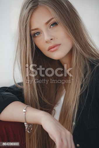 Spring Portrait Of A Beautiful Young Woman In The Fresh Air Stock Photo & More Pictures of Adult