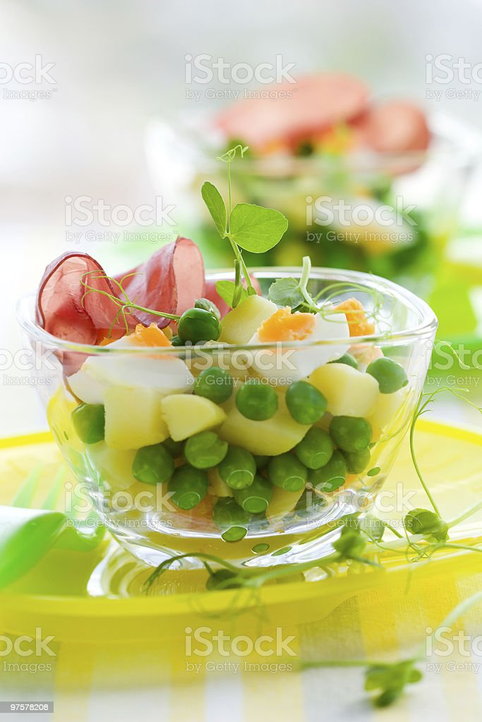 spring Kartoffelsalat - Lizenzfrei Ei Stock-Foto