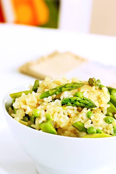 Spring risotto stock photo
