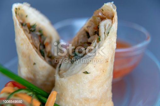 Chicken Meat, Spring Roll, Appetizer, Asian Food, Cabbage