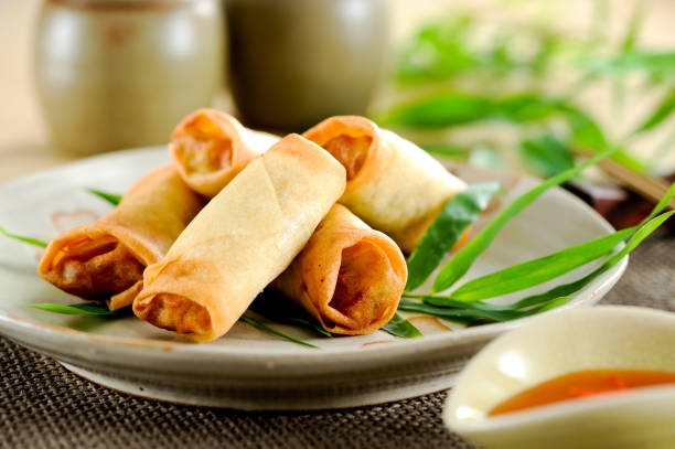 12 252 Spring Roll Stock Photos Pictures Royalty Free Images Istock