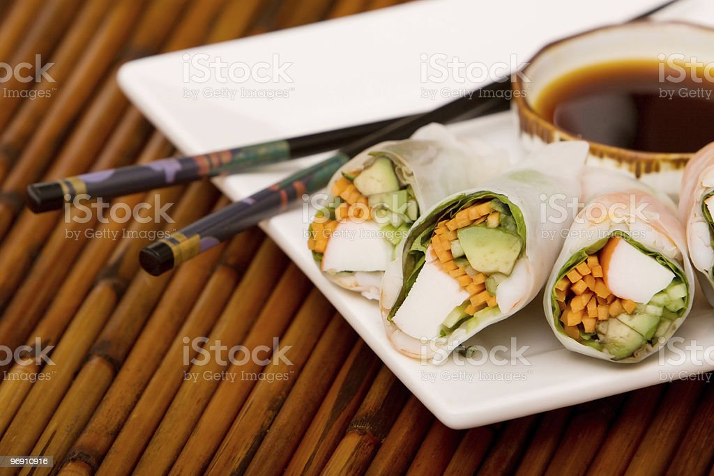 Spring rolls royalty-free stock photo