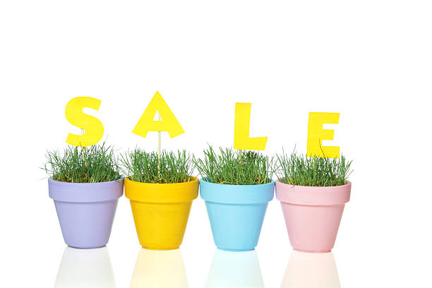 Spring Sale Advertising Concept stock photo