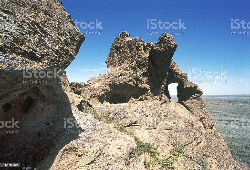 Spring. Sandstone of Mountain Bogo. stock photo