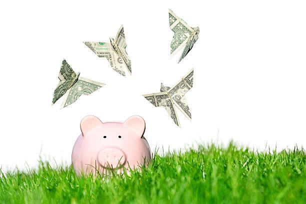 Spring saving deals stock photo