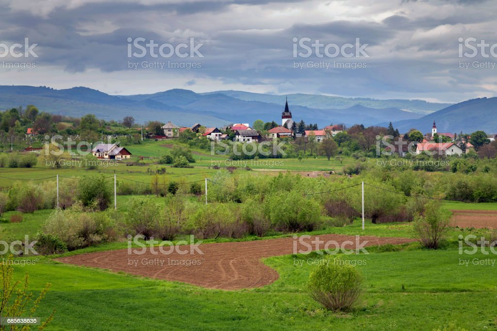 Spring scenic in Transylvania royalty-free 스톡 사진