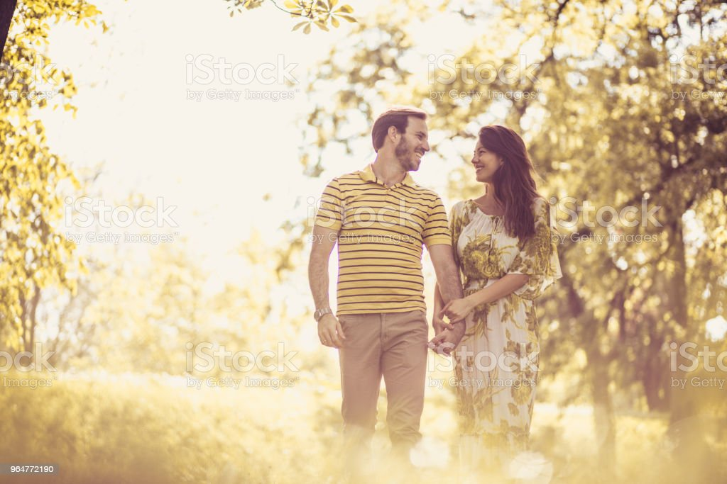 Spring season is beautiful time of year for love. royalty-free stock photo