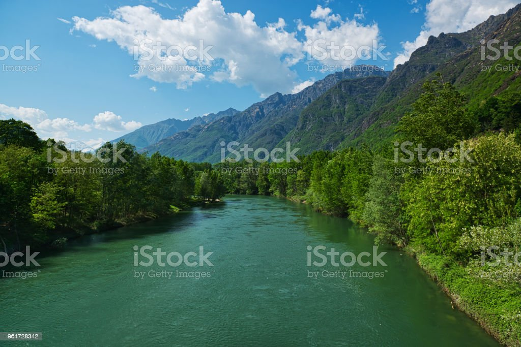spring season on the river Toce royalty-free stock photo