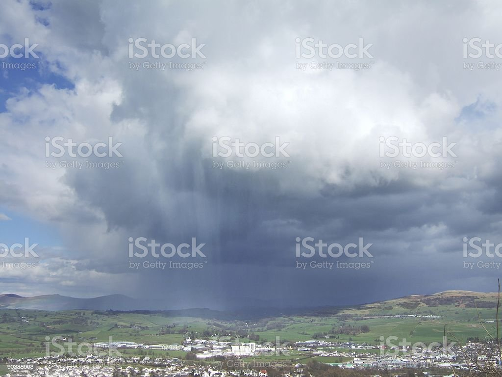 Spring shower royalty-free stock photo