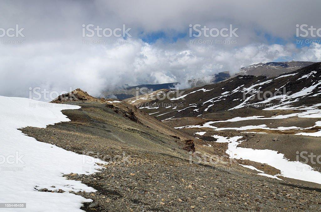 Spring slopes of Veleta in the Sierra Nevada stock photo