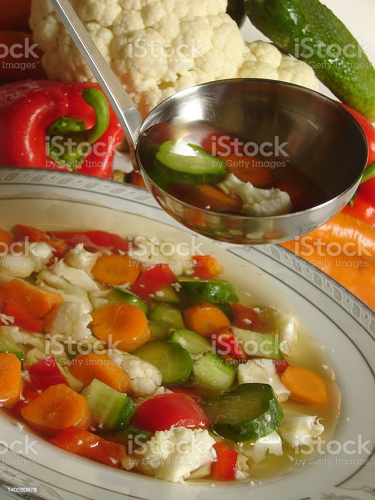 Spring soup stock photo