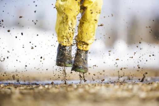 Spring Splashing Stock Photo - Download Image Now