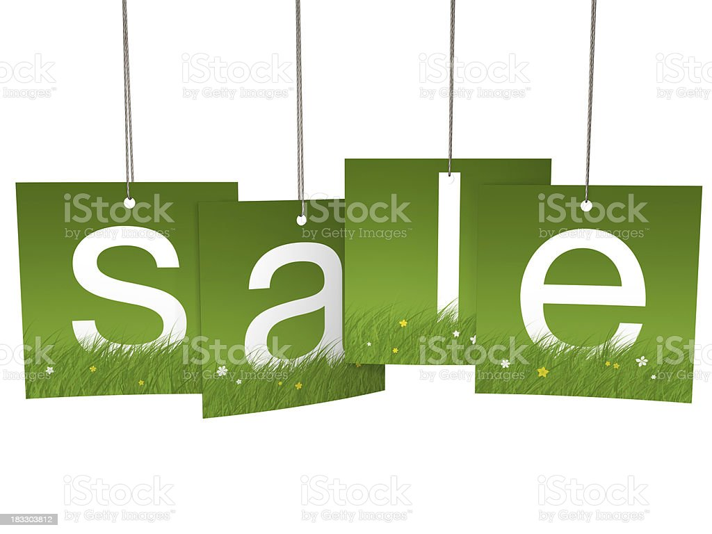 Spring square hanging sale letter tags royalty-free stock photo