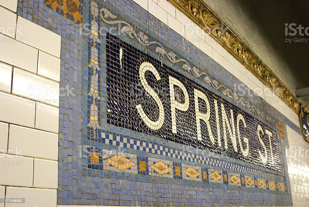 Spring St. Subway Stop, NYC stock photo