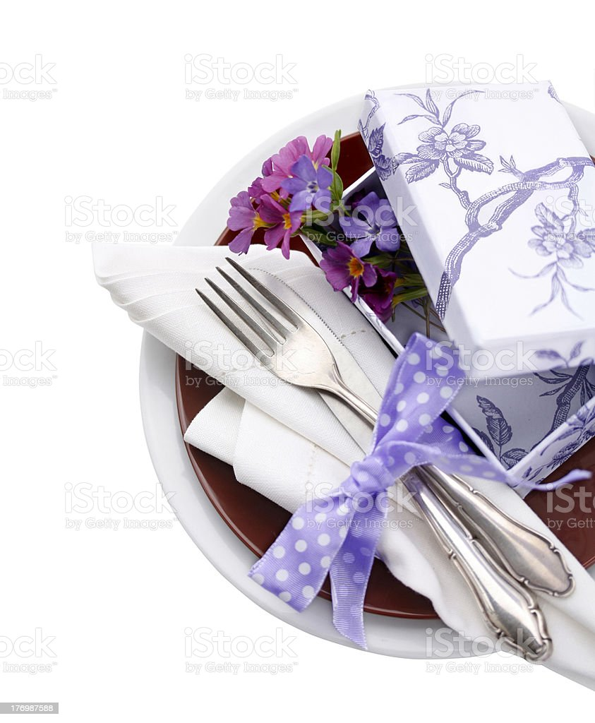 Spring Table Setting royalty-free stock photo