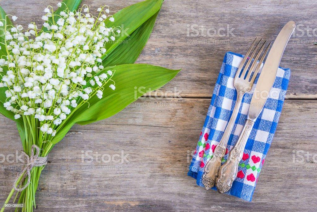 Cadre de table de printemps - Photo de Arbre en fleurs libre de droits