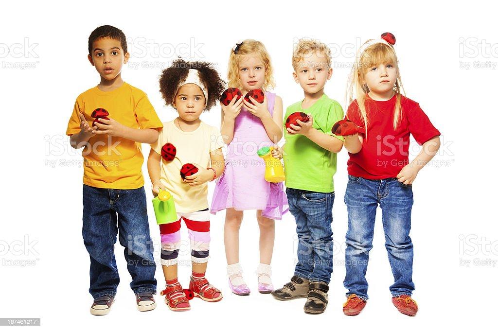 Spring team kids royalty-free stock photo