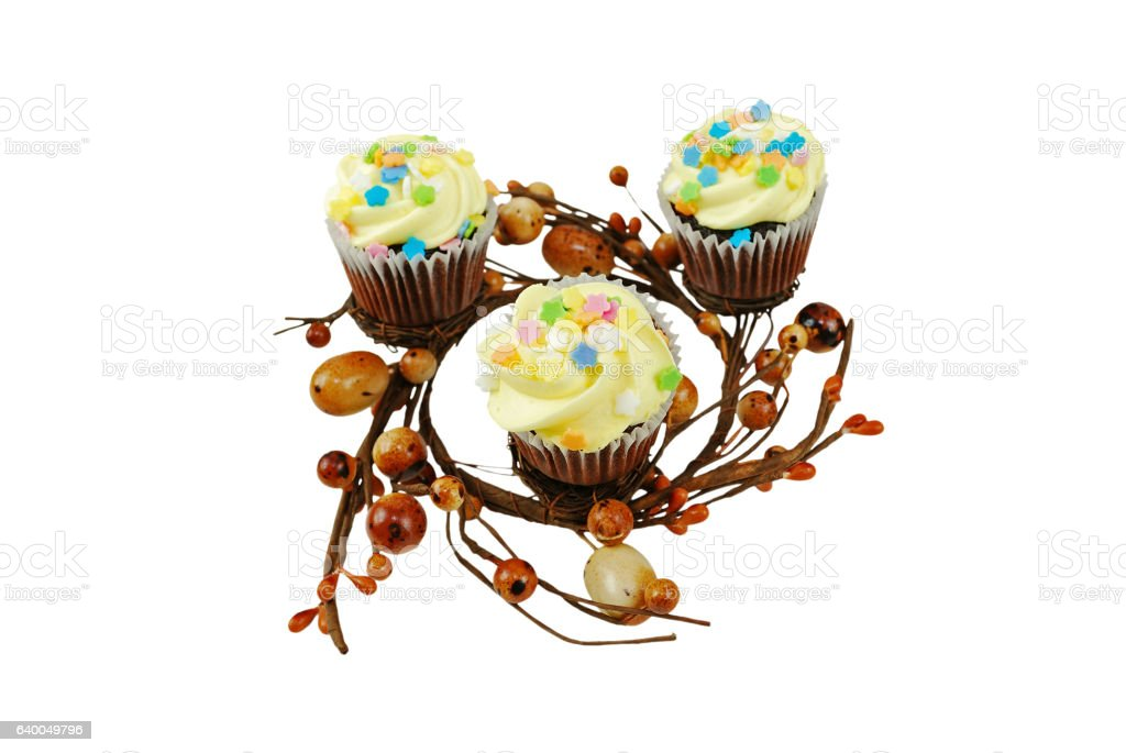 Spring Themed Cupcakes stock photo