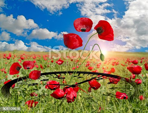 905623256 istock photo spring time clock flowers nature space for your text , background 905109616
