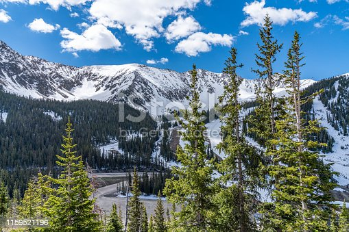 Different locations along Loveland Pass, Colorado.  Ski slopes and backcountry skiing area