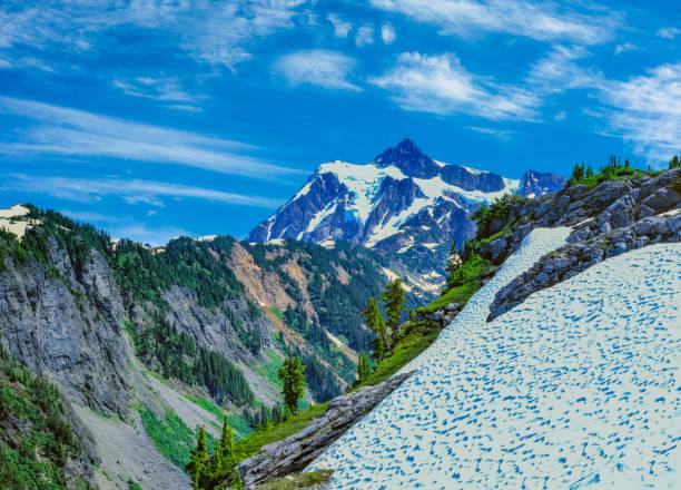 Printemps de neige temps Mt Baker-Snoqualmie National Forest, WA - Photo