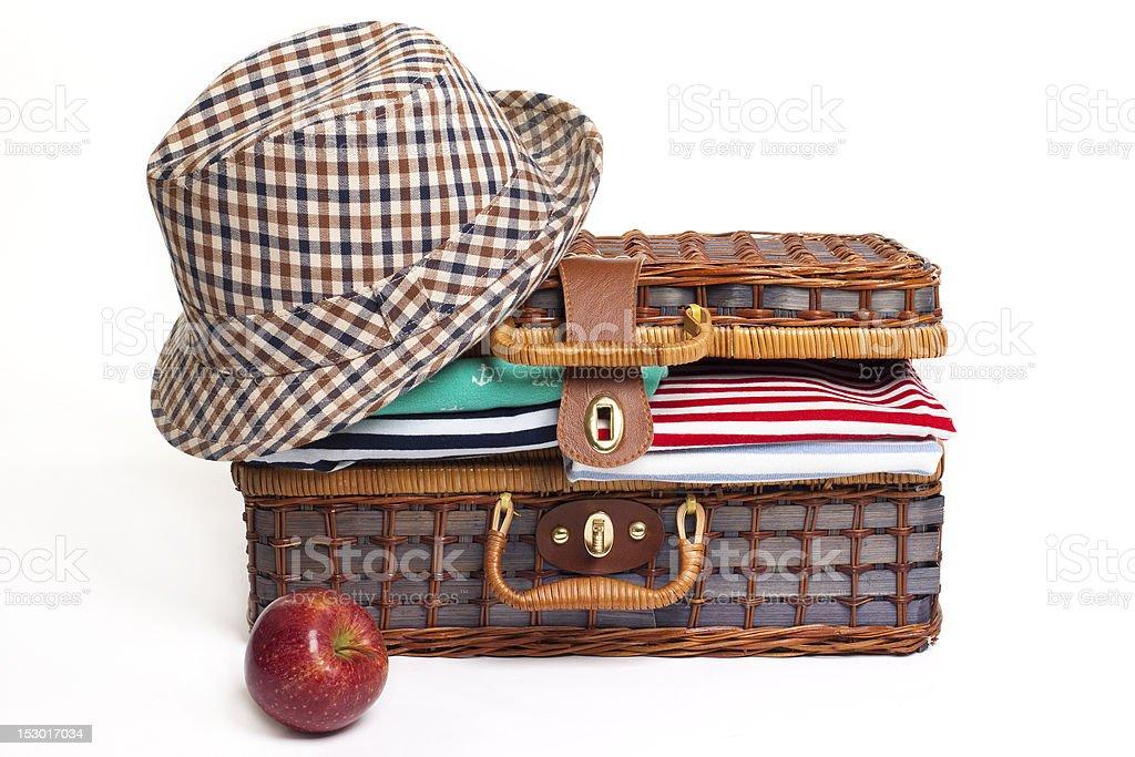 Spring travel suitcase royalty-free stock photo