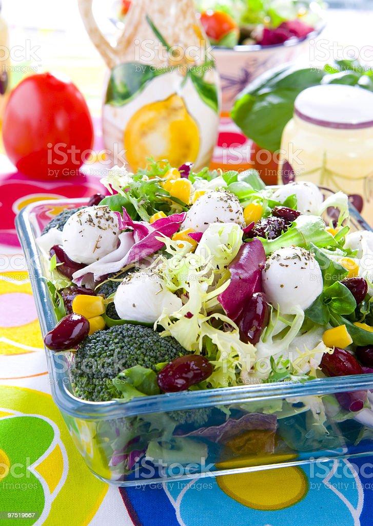 spring variation salad royalty-free stock photo