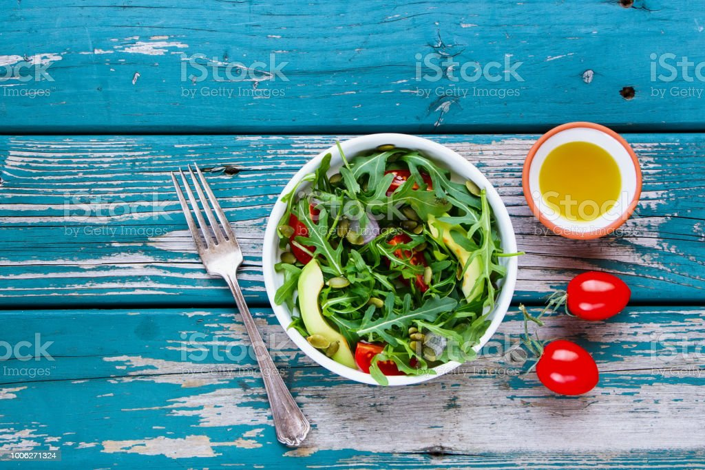 Spring vegetable salad stock photo
