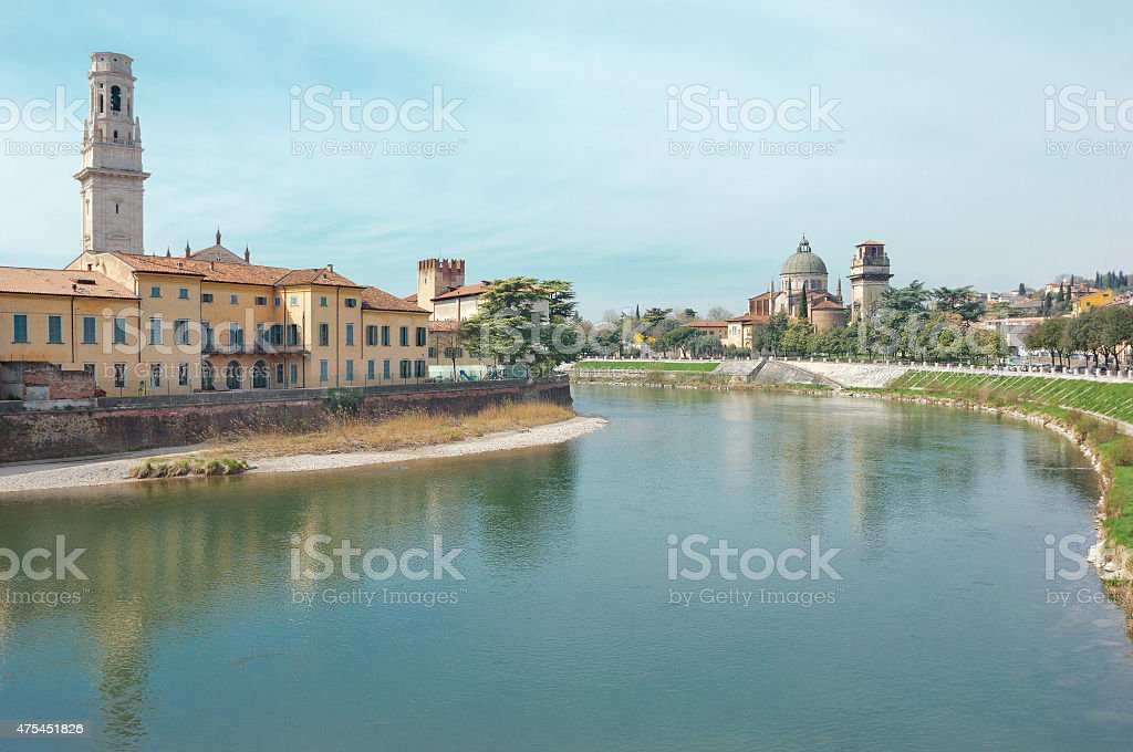 Spring Verona landscape stock photo