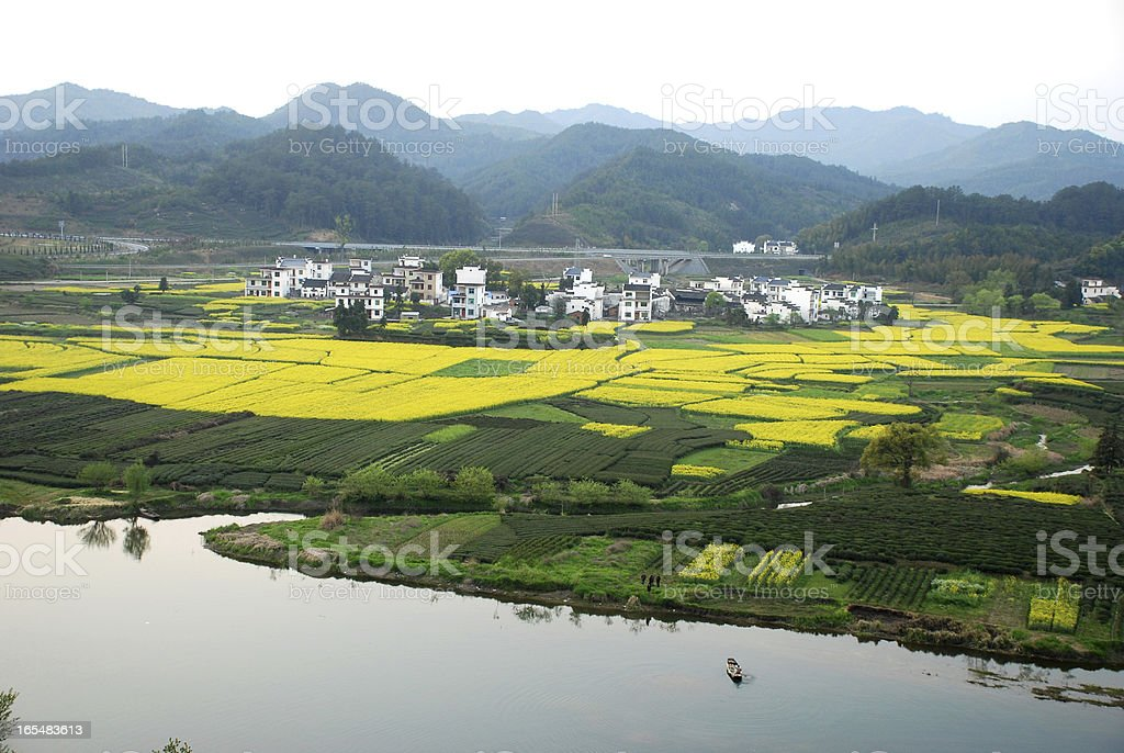 Spring view in Jiangxi stock photo