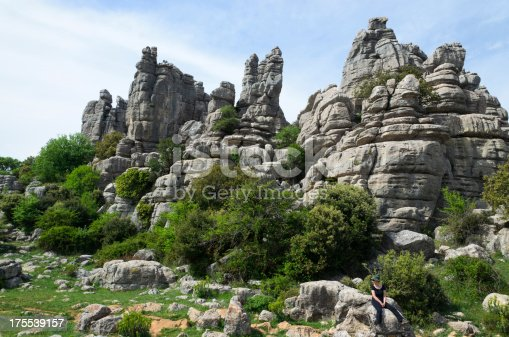 istock Spring view of El Torcal nature reserve 175539157