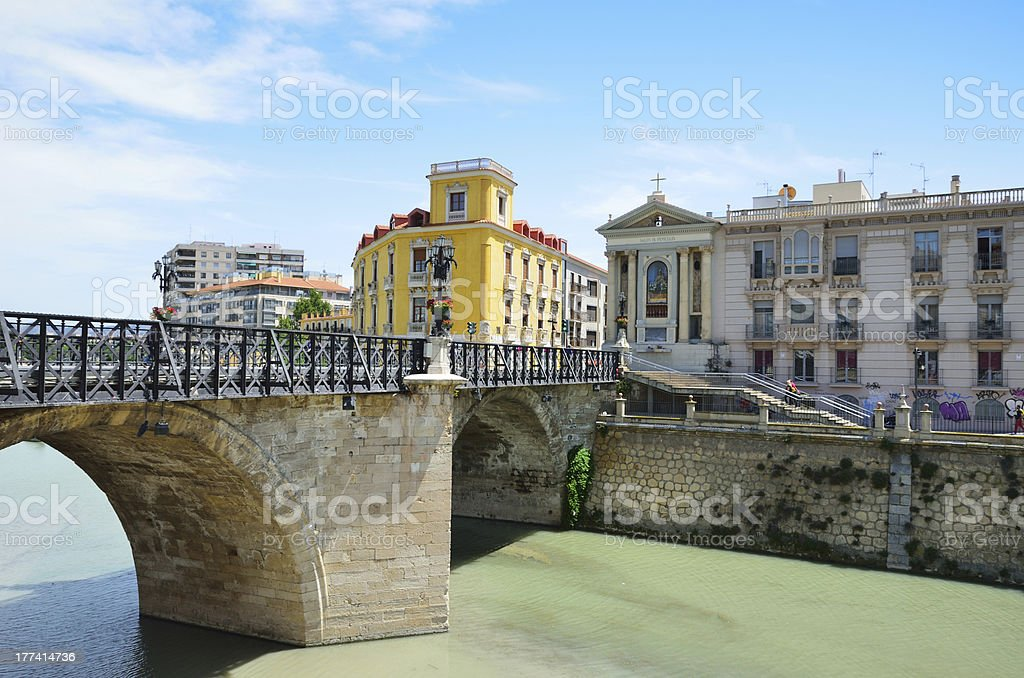 Spring view of Murcia stock photo