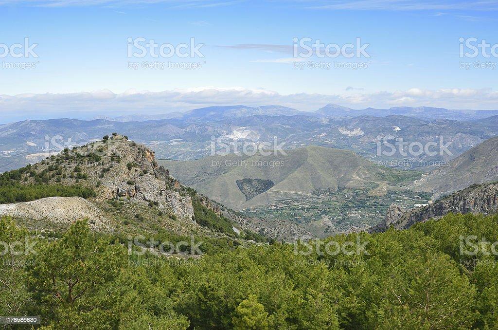 Spring view of Sierra Nevada stock photo