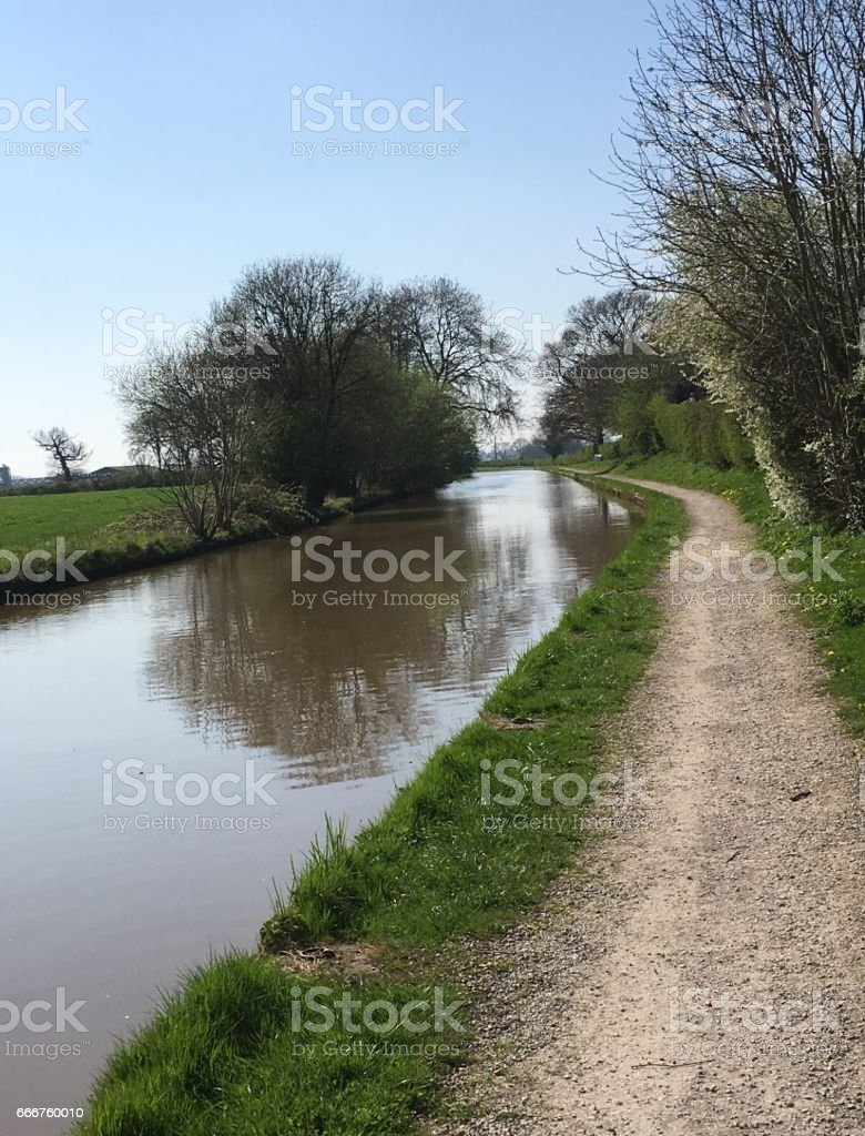 Spring Walk - Canal Long foto stock royalty-free