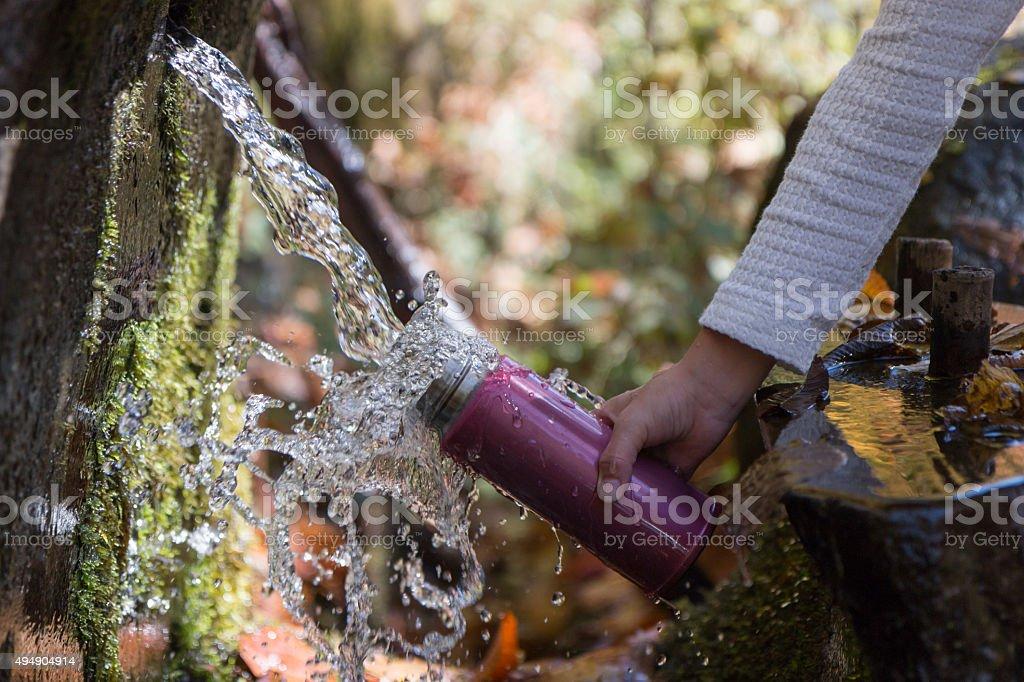 Acqua di sorgente - foto stock