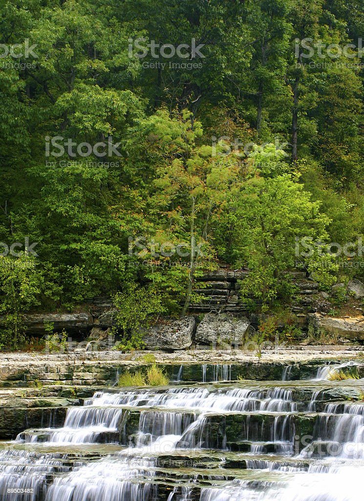 Spring waterfall royalty free stockfoto