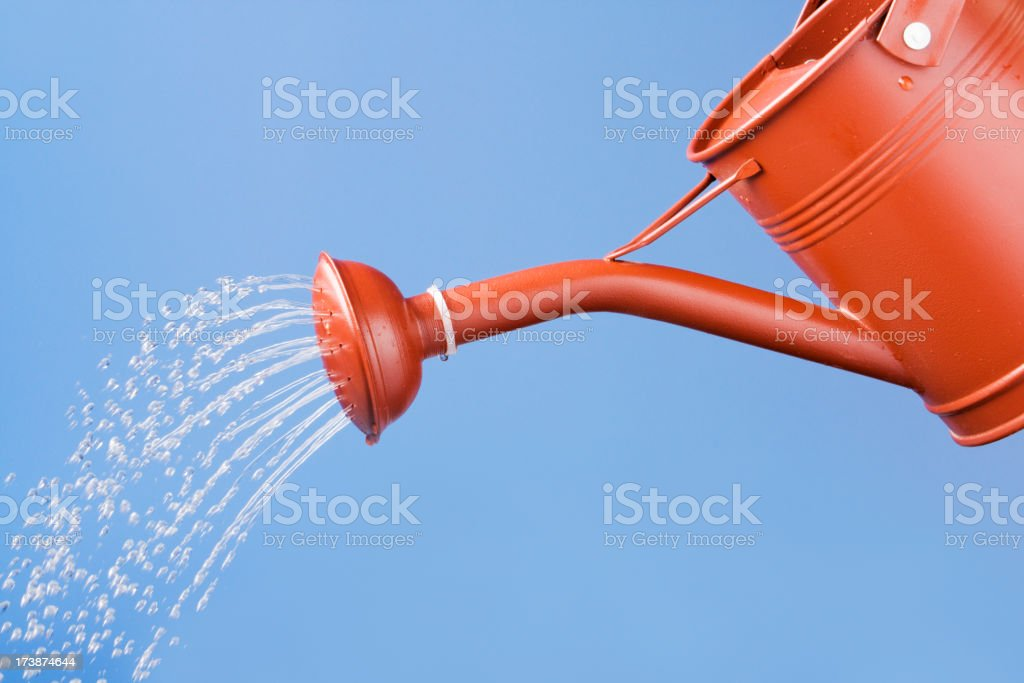 Spring Watering stock photo
