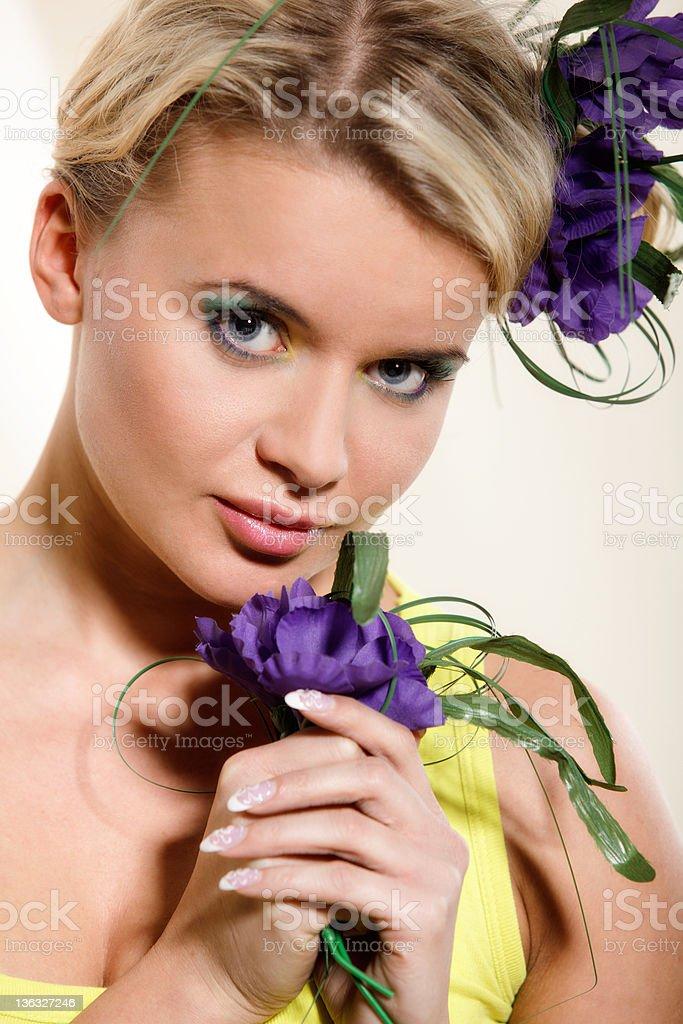 Spring woman stock photo
