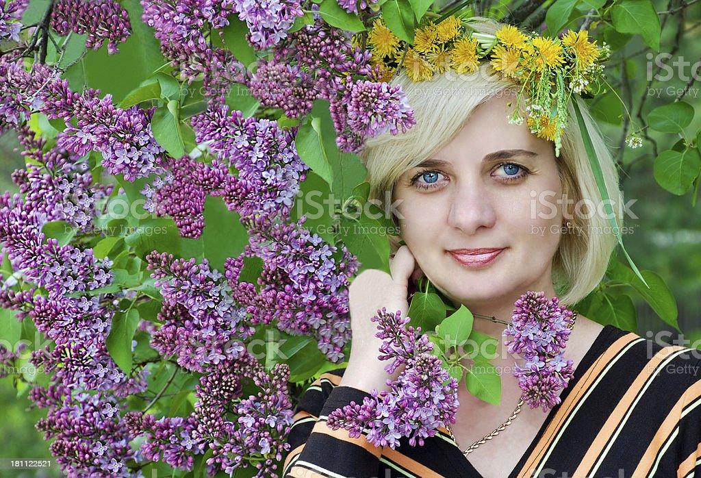 Spring, woman royalty-free stock photo