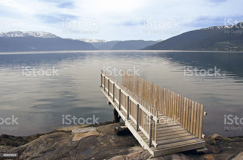 springboard to a lake royalty-free stock photo