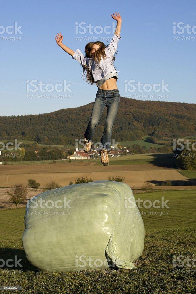 Springendes Mädchen royalty-free stock photo