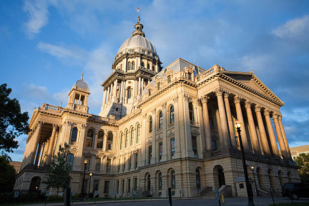 Springfield Illinois - Capital Building stock photo
