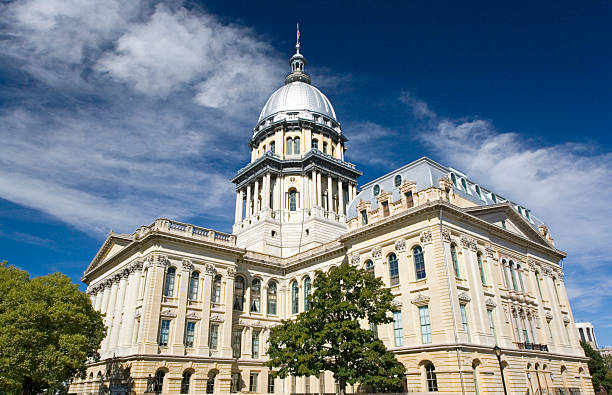 Springfield, Illinois capital building stock photo