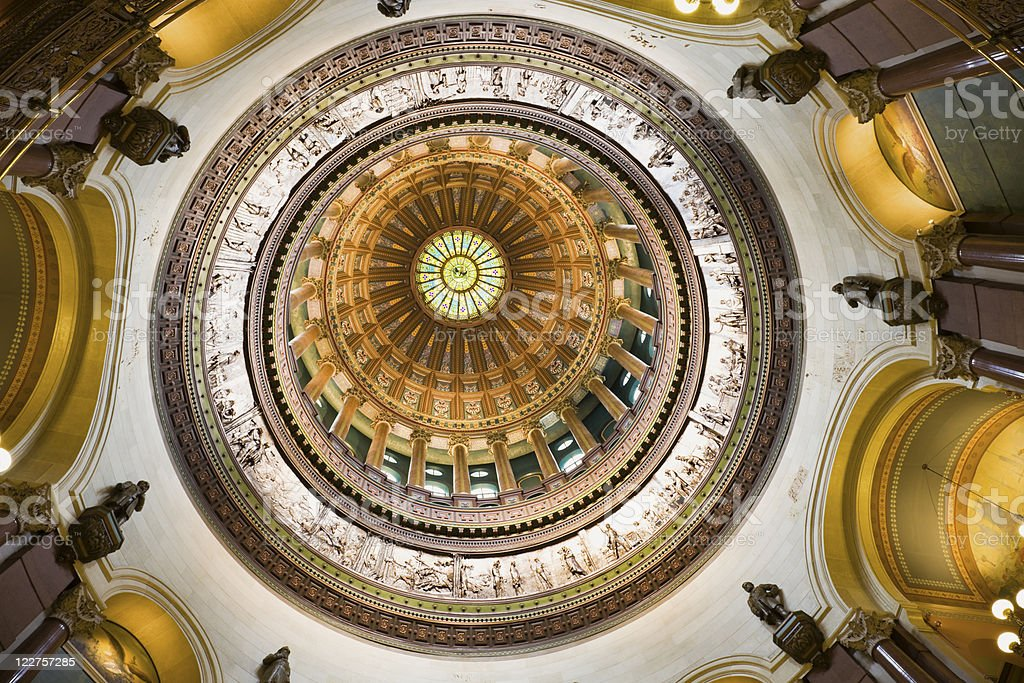 Springfield, Illinois - inside of State Capitol stock photo