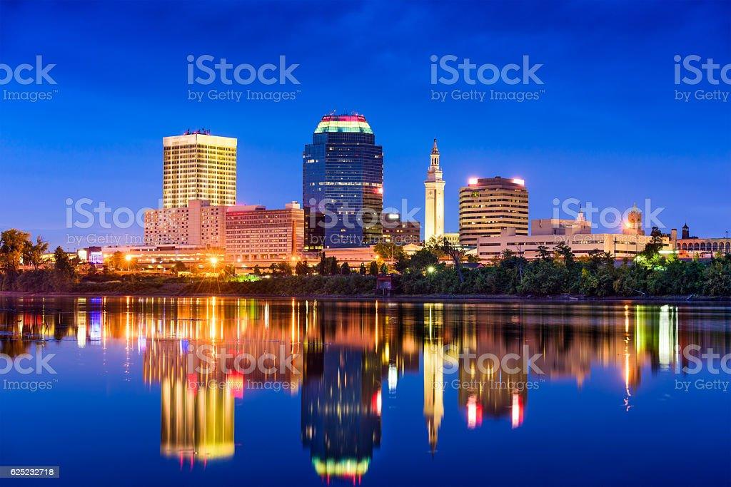 Springfield, Massachusetts Skyline stock photo
