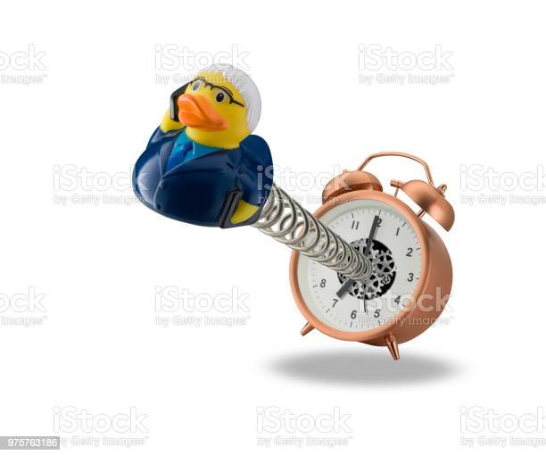 Photo of springing out of alarm clock