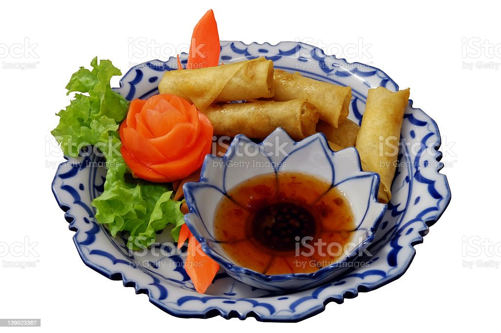 spring-rolls royalty-free stock photo