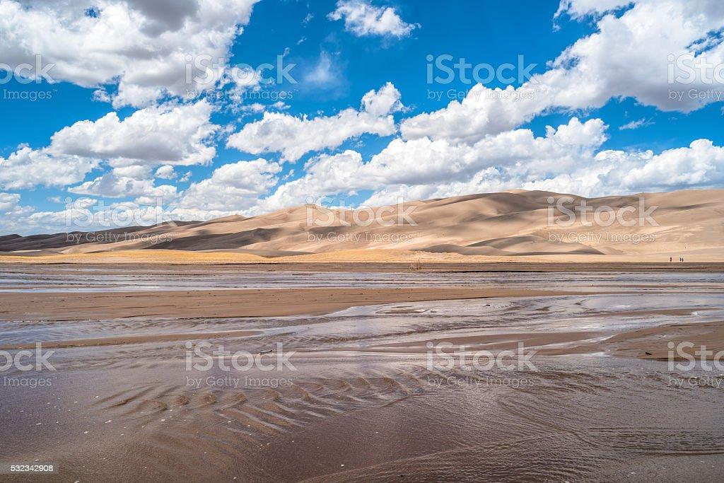 Springtime at Great Sand Dunes stock photo