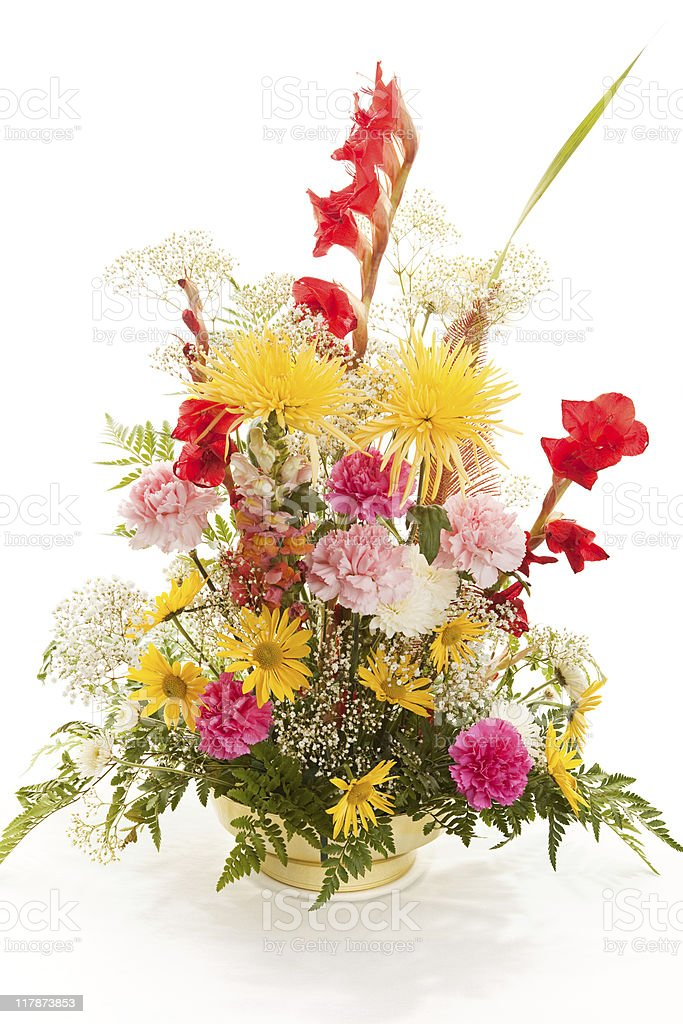 Springtime Bouquet on White royalty-free stock photo