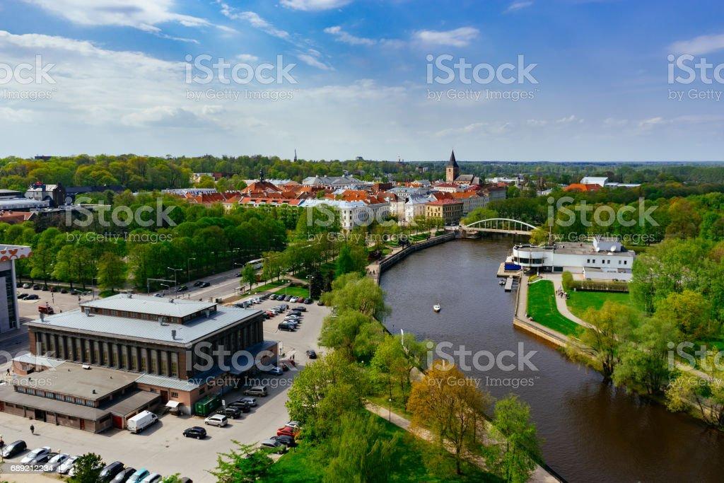 Springtime cityscape of Tartu town – Foto